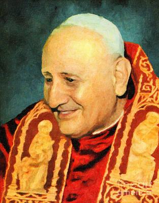 Cardinal Digital Art - Saint John Xxiii by Lianne Schneider