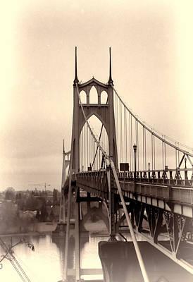 Photograph - Saint Johns Bridge II  by HW Kateley