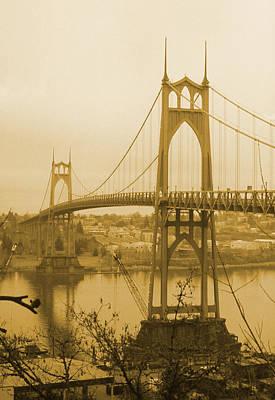 Photograph - Saint Johns Bridge - Portland Oregon by HW Kateley