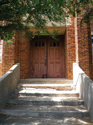 Photograph - Saint John's Catholic Church Entrance by The GYPSY And DEBBIE