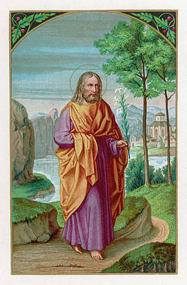 Saint Joseph Husband Of Mary, And Art Print by Mary Evans Picture Library
