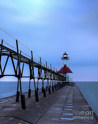 Saint Joseph Lighthouse And Pier Art Print by Twenty Two North Photography