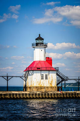 Saint Joseph Lighthouse Picture Art Print by Paul Velgos