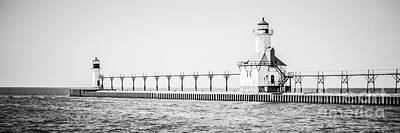 Saint Joseph Michigan Lighthouse Panoramic Photo Art Print by Paul Velgos