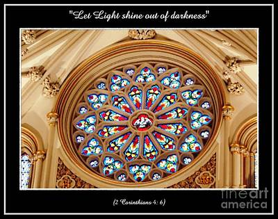 Photograph - Saint Josephs Cathedral Stained Glass Window Buffalo New York by Rose Santuci-Sofranko