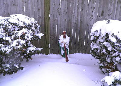 Saint Jude Photograph - Saint Jude Barefoot In The Snow by Kate Gallagher