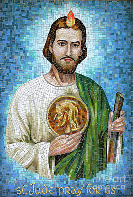 Saint Jude Photograph - Saint Jude Mosaic by William Kuta