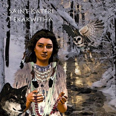 Art Print featuring the painting Saint Kateri by Suzanne Silvir