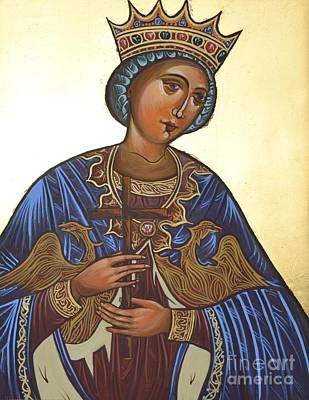 Byzantine Icon Painting - Saint Kateryna Icon by Kateryna Kurylo