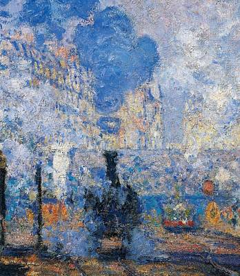 Contemporary Age Painting - Saint Lazare Station by Claude Monet