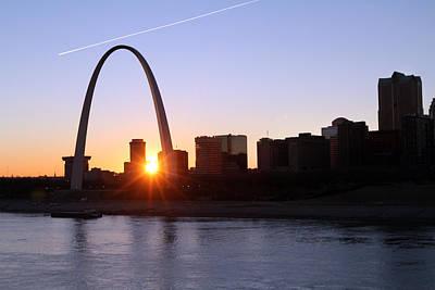 Saint Louis Arch Sunset Print by David Yunker