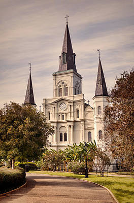 St Louis Square Photograph - Saint Louis Cathedral by Heather Applegate