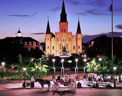Photograph - Saint Louis Cathedral New Orleans by Allen Beatty