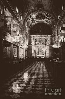 Photograph - Saint Louis Cathedral New Orleans Black And White by Kathleen K Parker