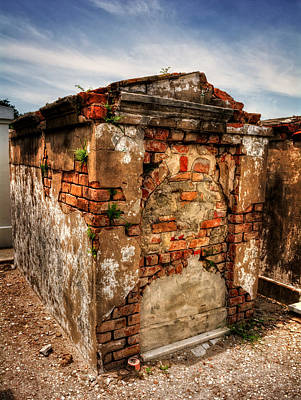 Photograph - Saint Louis Cemetery No. 1 Brick Grave by Chrystal Mimbs
