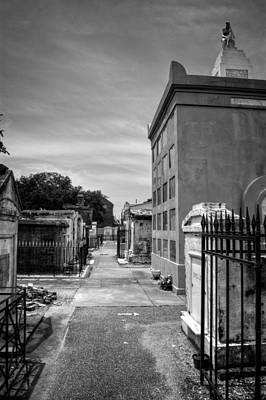 Photograph - Saint Louis Cemetery Number 1 In Black And White by Chrystal Mimbs