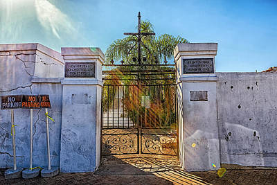 Photograph - Saint Louis Cemetery Number One by Sennie Pierson