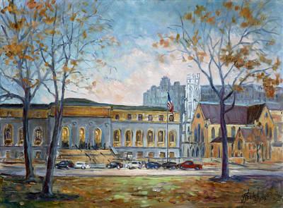 Downtown Painting - Saint Louis Public Library by Irek Szelag