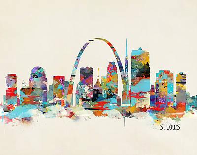 Saint Louis Painting - Saint Louis Missouri by Bleu Bri