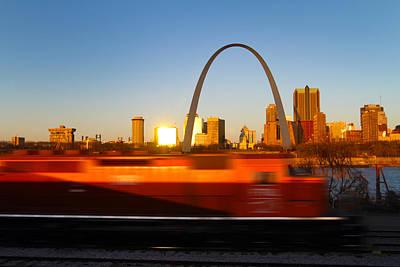 Saint Louis Morning Train Print by David Yunker