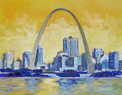 Painting - Saint Louis Skyline 1 by Irek Szelag