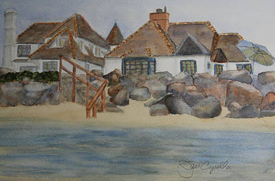 Saint Malo Beach House Art Print