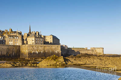 Roaring Red - Saint Malo St-Malo Brittany France Ramparts Town Beach by Colin and Linda McKie