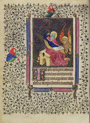 1420 Painting - Saint Mark Follower Of The Egerton Master, French by Litz Collection