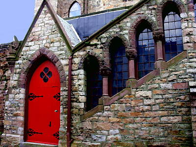 Photograph - Abstract - Saint Mark's Episcopal Church In Jim Thorpe Pa by Jacqueline M Lewis