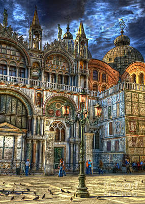 Art Print featuring the photograph Saint Marks Square by Jerry Fornarotto