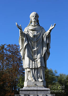 Martini Royalty-Free and Rights-Managed Images - Saint Martin Statue at Lourdes by Carol Groenen