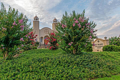 Photograph - Saint Mary Coptic Orthodox Church   Greenville Sc by Willie Harper