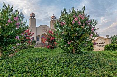 Photograph - Saint Mary Coptic Orthodox Church   Mauldin South Carolina by Willie Harper