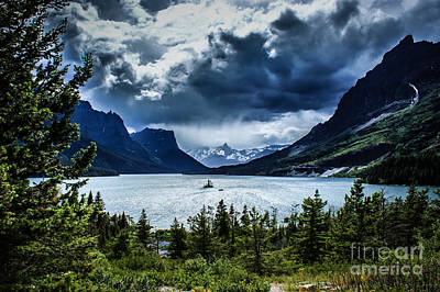 Saint Mary Lake Art Print by Jim McCain