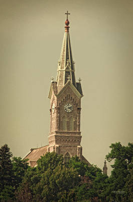 Stone Buildings Photograph - Saint Mary's Catholic Church - Port Washington by Mary Machare