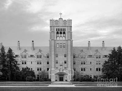 Of Indiana Photograph - Saint Mary's College Le Mans Hall by University Icons
