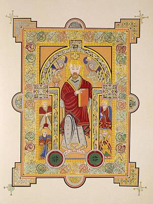Disciples Drawing - Saint Matthew, From A Facsimile Copy by Irish School