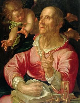 Disciples Painting - Saint Matthew by Joachim Wtewael