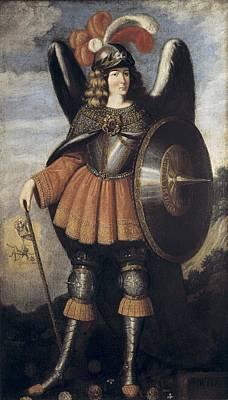 Saint Michael The Archangel. 17th C Art Print by Everett