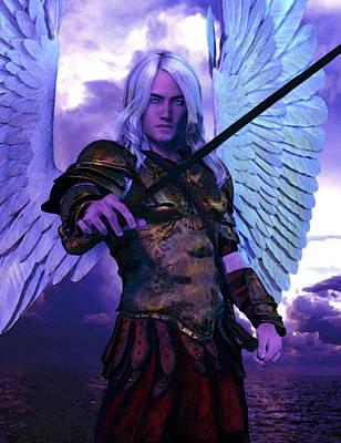 Saint Michael The Archangel/2 Art Print by Suzanne Silvir
