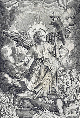 Saint Michael The Archangel Art Print by Folger Shakespeare Library