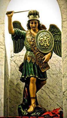Photograph - Saint Michael The Archangel by Joan Reese