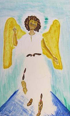 Painting - Saint Michael The Archangel Miracle Painting by Debbie Nester