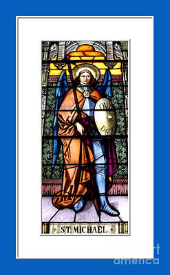 Saint Michael The Archangel Stained Glass Window Print by Rose Santuci-Sofranko