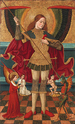 Saint Michael Weighing Souls Art Print by Juan de la Abadia the Elder