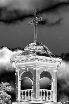 Photograph - Saint Michael's Steeple by Maureen Cunningham