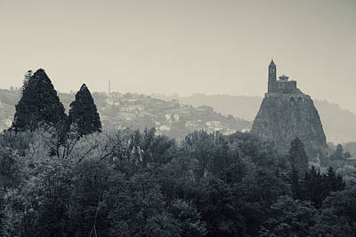 Saint Michel Daiguilhe Chapel At Dawn Art Print by Panoramic Images