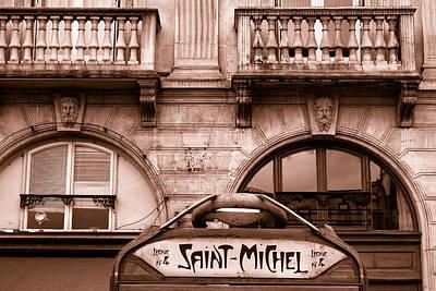 Metro Art Photograph - Saint Michel Metro Toned by Georgia Fowler