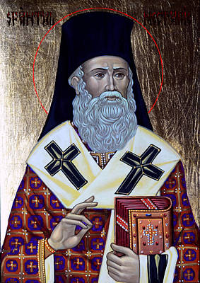 Saint Nectarios Art Print by Claud Religious Art