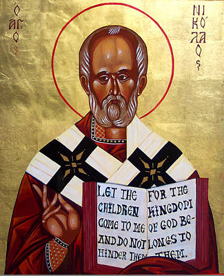 Greek Icon Painting - Saint Nicholas The Wonder Worker by Joseph Malham